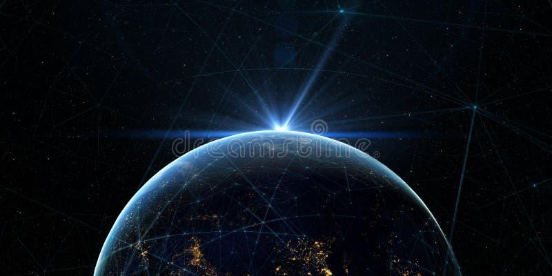Globaler internationaler Zusammenhang-Hintergrund Abbildung 3D vektor abbildung