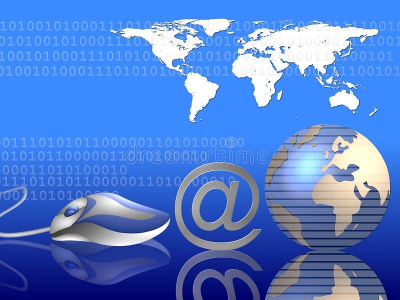 Globaler Internet-Hintergrund lizenzfreie abbildung