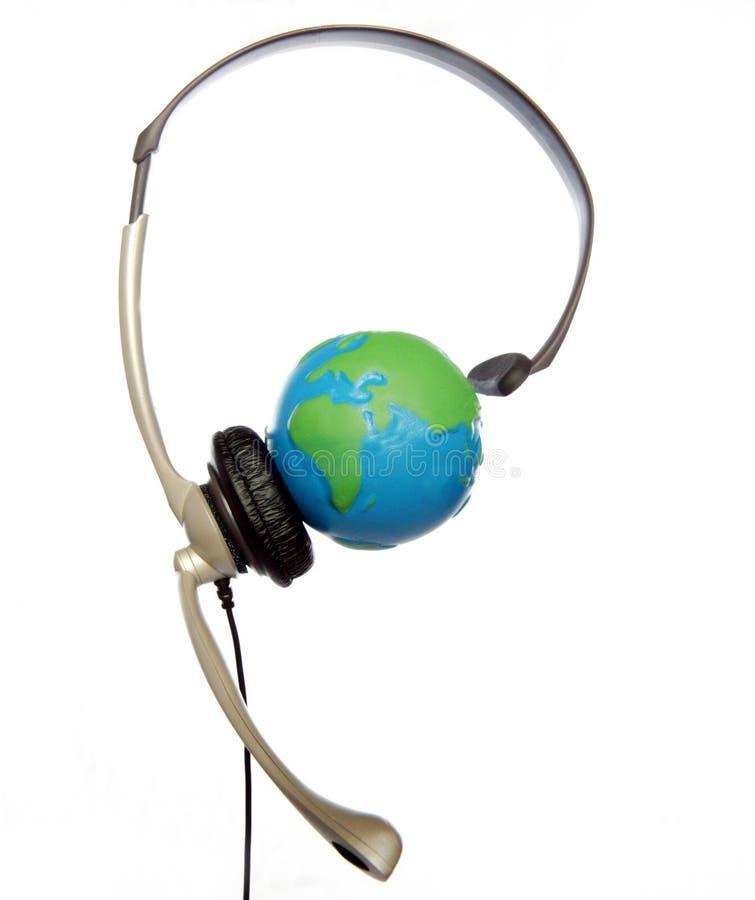 Globaler Kundenkontaktcenter lizenzfreies stockfoto