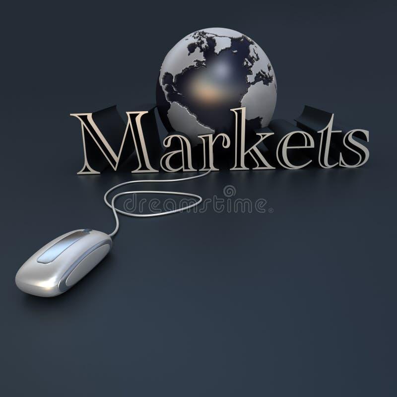 Globaler Markt stock abbildung