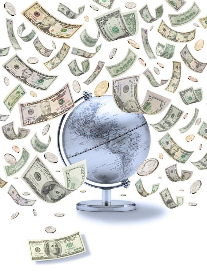 Globales amerikanisches Geld stockfotos