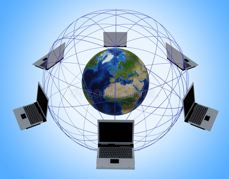 Globales Computernetz stockbild