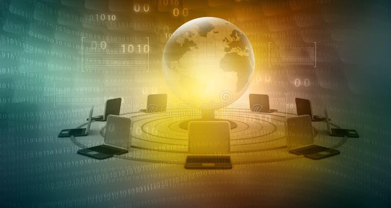 Globales Computernetz vektor abbildung