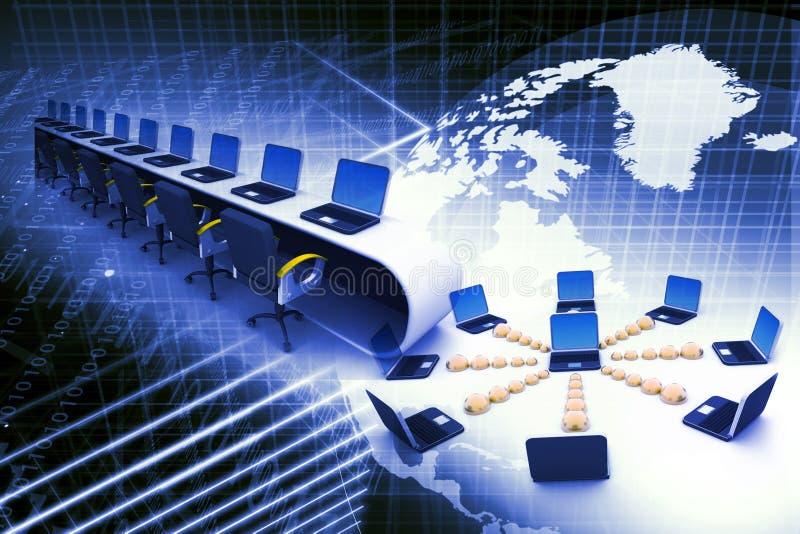 Globales Computernetz stockfoto