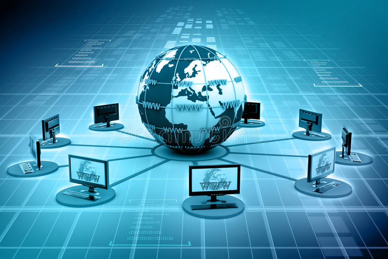 Globales Computernetzwerk vektor abbildung