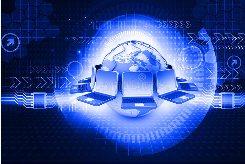 Globales Computernetzwerk an stockfotografie