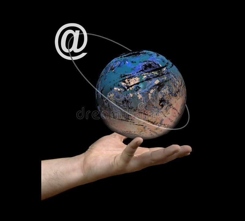 Globales comunication lizenzfreie abbildung