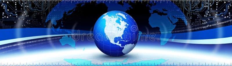 Globales comunication stock abbildung