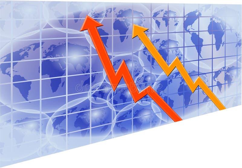 Globales Diagramm lizenzfreie abbildung