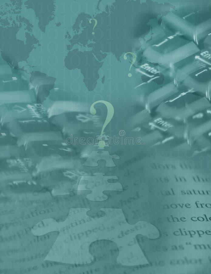 Globales Digital-Puzzlespiel lizenzfreie abbildung