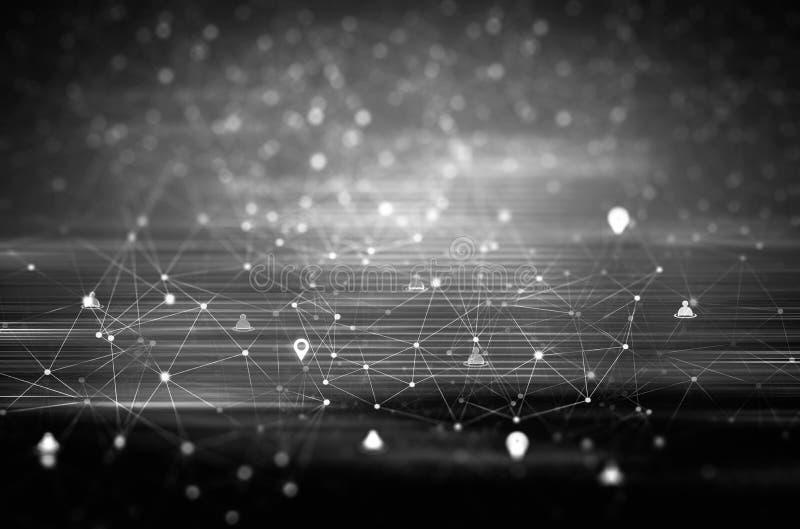 Globales digitales Konzept des Verbindungskommunikations-Sozialen Netzes lizenzfreie stockfotos