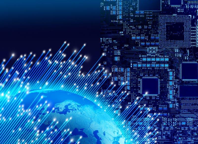 Globales Digitaltechnikkonzept stockfoto