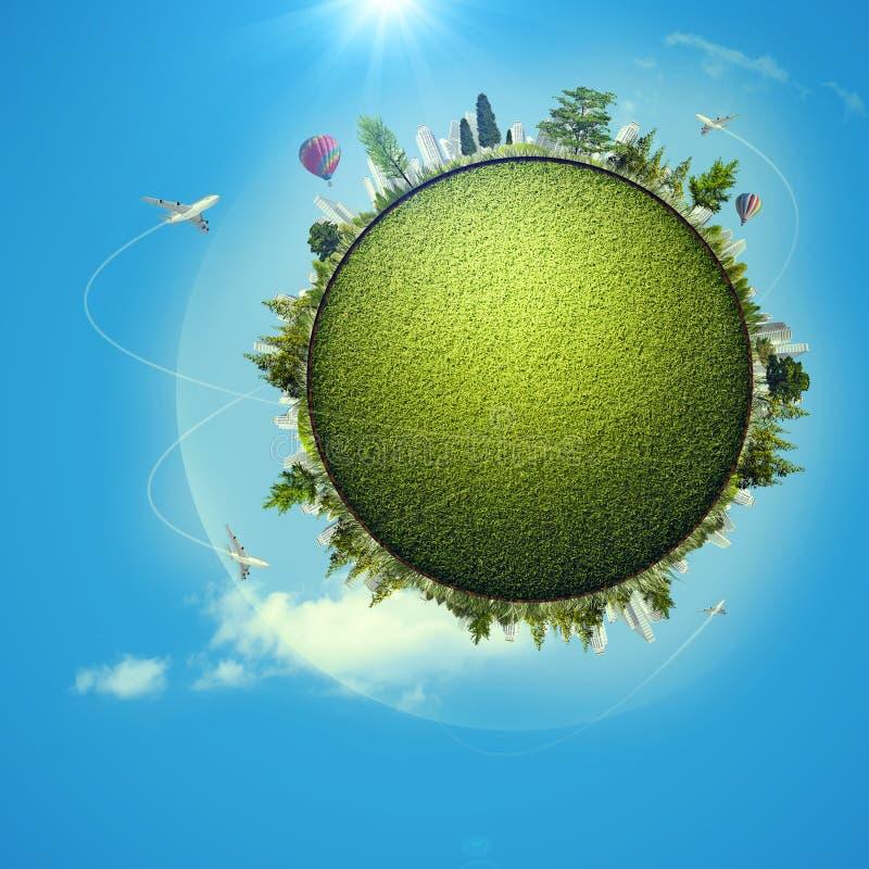Globales eco Transportkonzept lizenzfreie abbildung