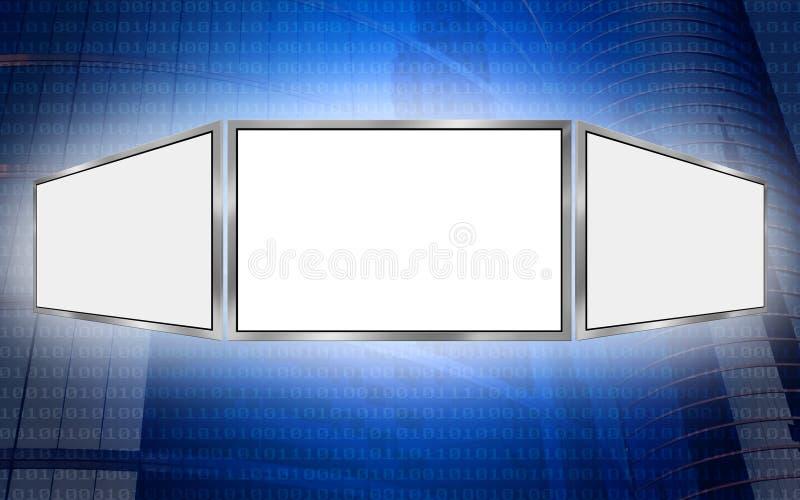 Globales Exemplar-Platz-Technologiekonzept des Bildschirms 3d lizenzfreie abbildung