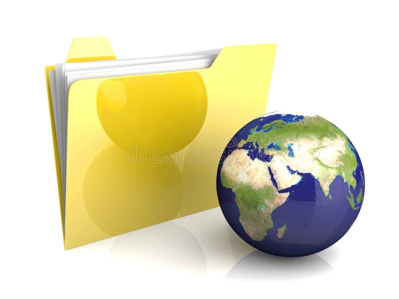 Globales Faltblatt lizenzfreie abbildung