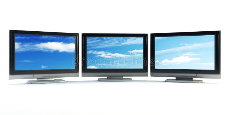 Globales Fernsehenkonzept lizenzfreie abbildung