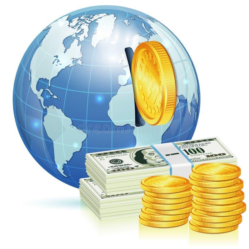 Globales Finanzkonzept stock abbildung