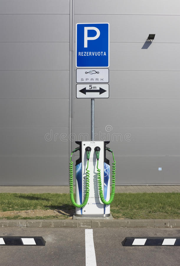 Globales Funkenelektroautosystem lizenzfreies stockbild