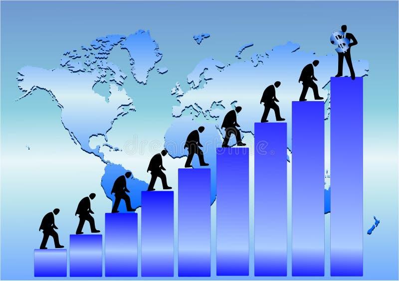 Globales Geschäft stock abbildung