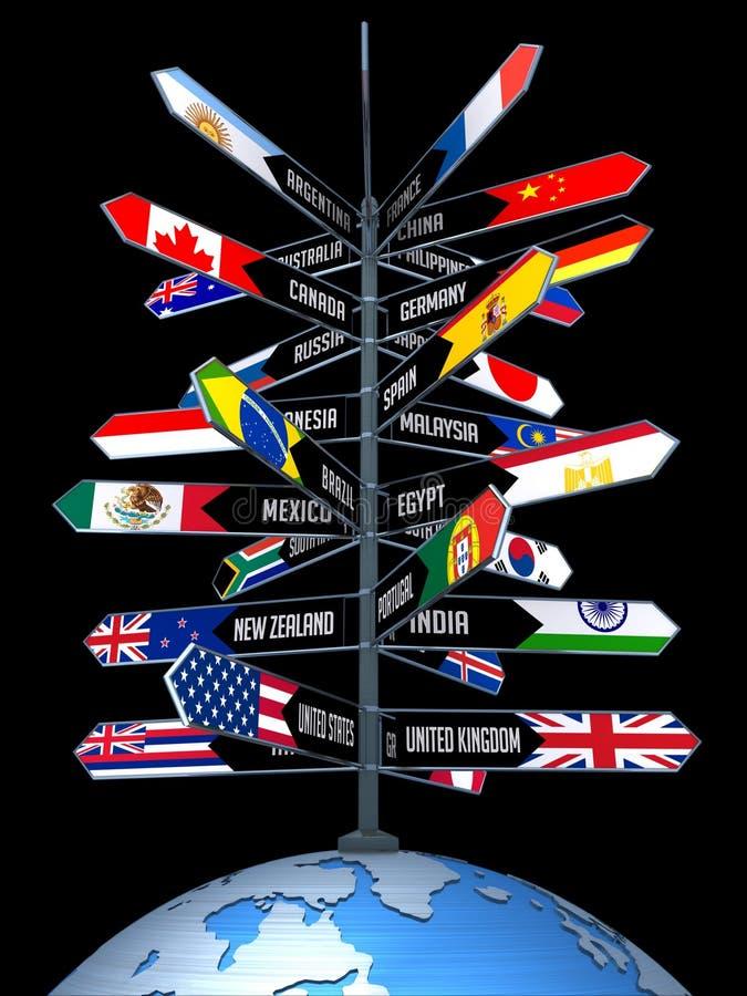 Globales Geschäft und Tourismus lizenzfreie abbildung