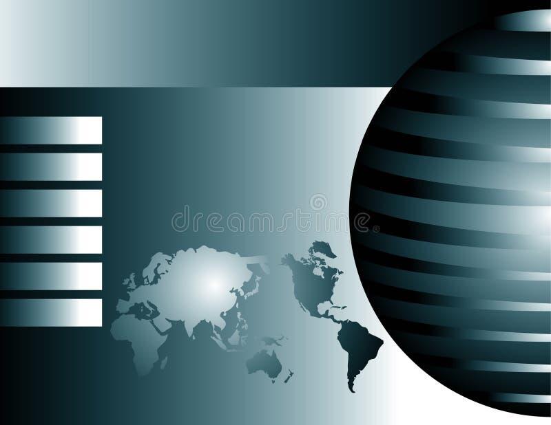 Globales Geschäfts-Hintergrund lizenzfreie abbildung