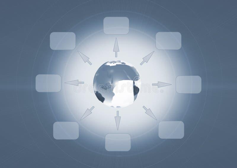 Globales Geschäfts-Hintergrund stock abbildung