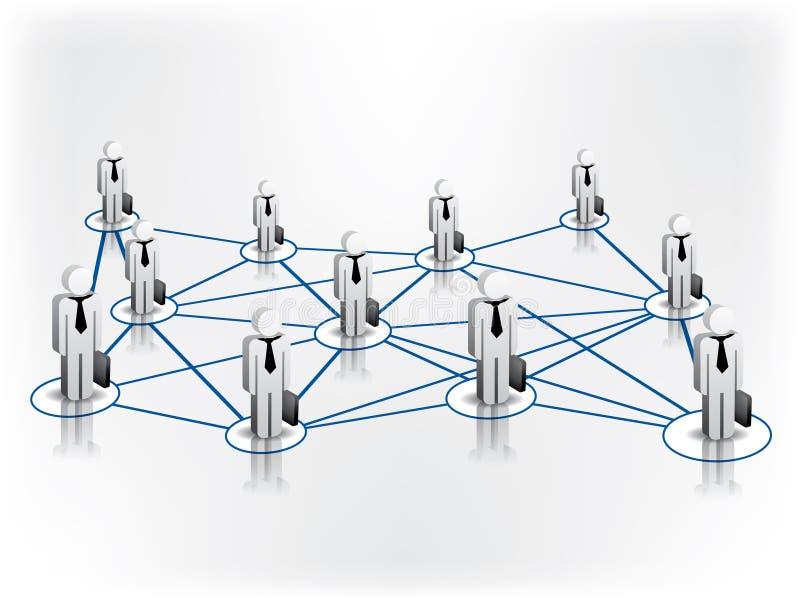 Globales Geschäfts-Netz stock abbildung