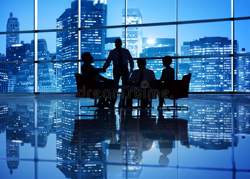 Globales Geschäftstreffen stockfotografie