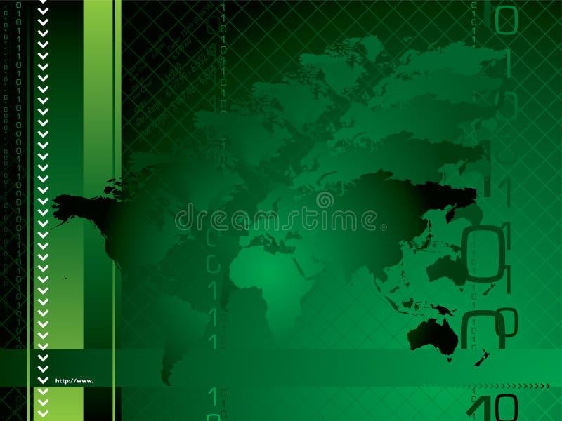 Globales Hintergrundgrün vektor abbildung