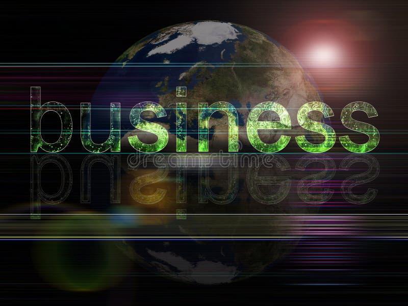 Globales Hintergrundserien Geschäft stock abbildung