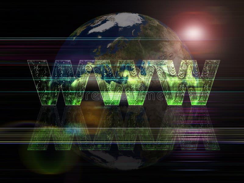 Globales Hintergrundserien World Wide Web lizenzfreie abbildung