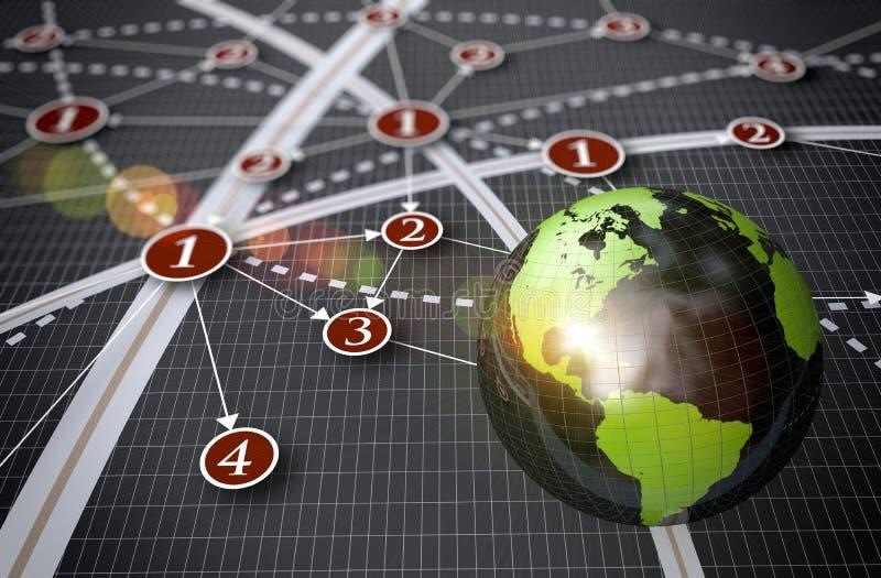 Globales Netzwerk stock abbildung