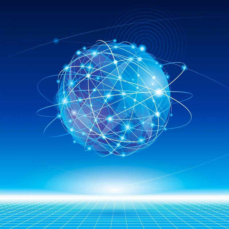 Globales Netzwerk stockfoto