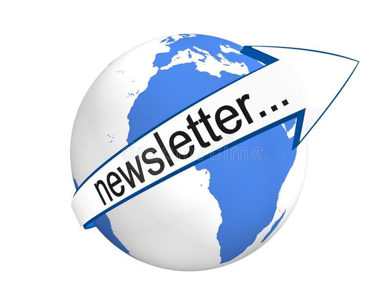 Globales Newsletter-Konzept lizenzfreie stockfotografie