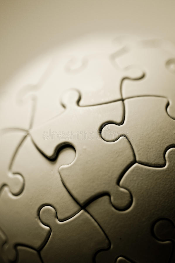 Globales Puzzlespiel lizenzfreie stockfotografie