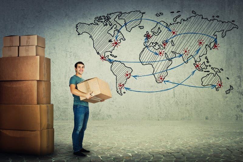 Globales Verschiffen stockfotografie