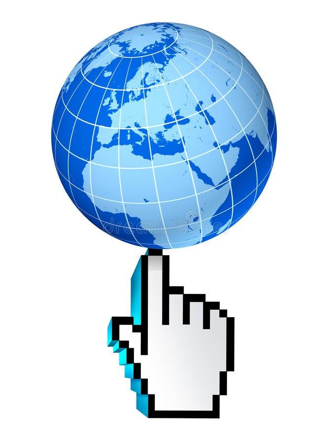 Globales Web des Internets Europa-Afrika Mittlerer Osten stock abbildung
