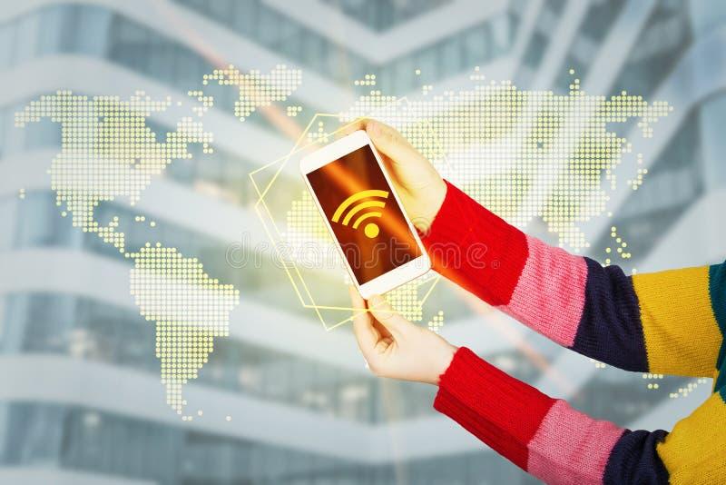 Globales Wifi lizenzfreie stockbilder