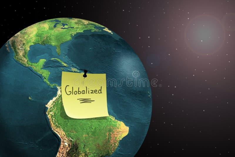 Globalisation du monde illustration de vecteur