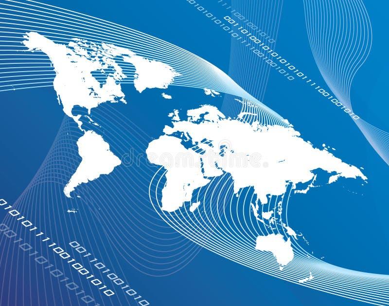Download Globalisation du monde illustration stock. Illustration du lignes - 740673