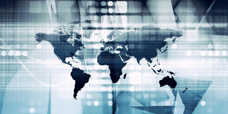 globalisering vektor illustrationer