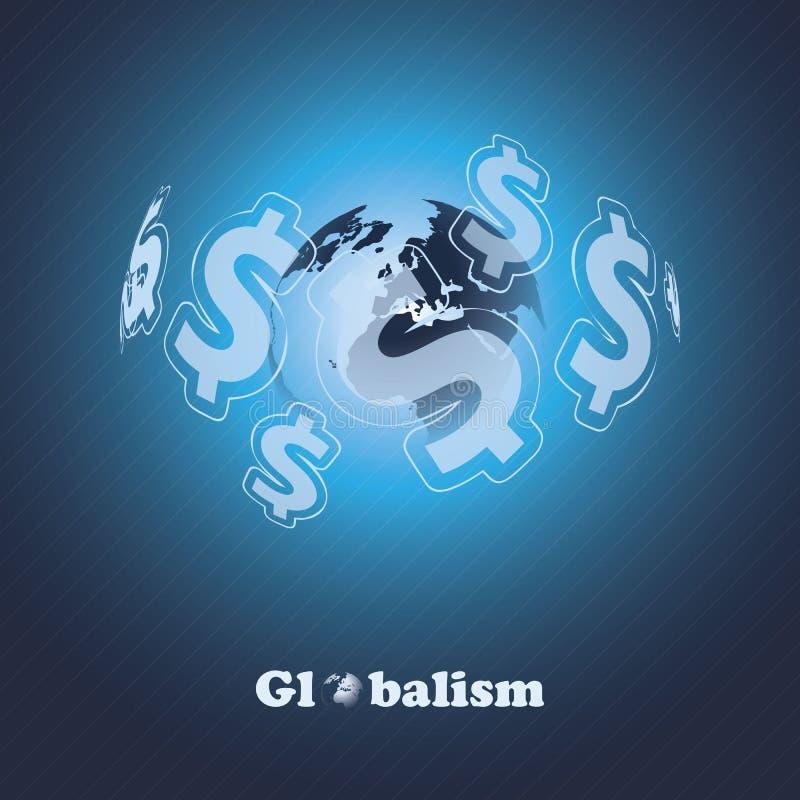 Globalism - идея проекта иллюстрация вектора