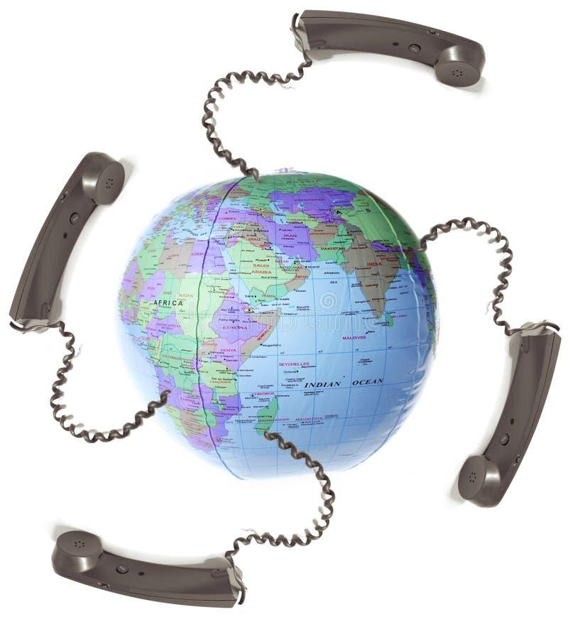 Globalização de uma comunicação fotografia de stock
