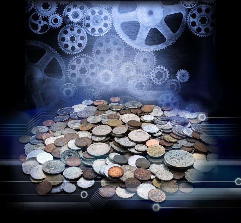 Globalización de la economía del negocio de dinero foto de archivo