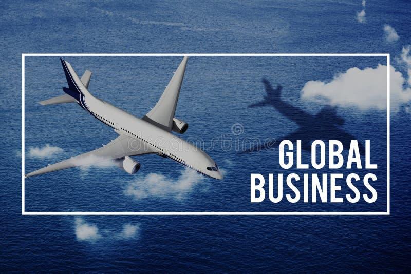 Globalización del negocio global que negocia concepto mundial fotos de archivo