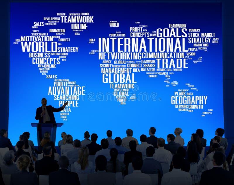 Globalización internacional C internacional de la red global del mundo libre illustration