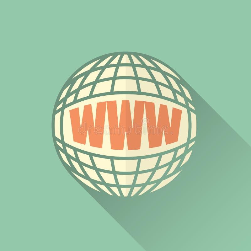 Globalización a través de Internet ilustración del vector