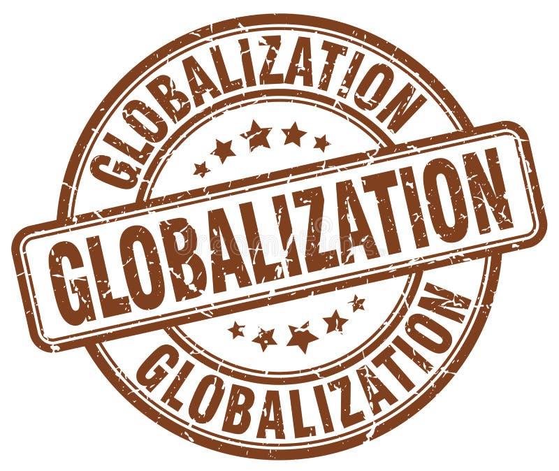 globalizacja brązu znaczek ilustracji