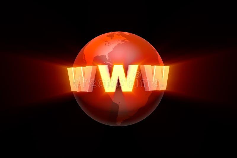 globalization Criação e promoção do Web site illustr 3d ilustração royalty free