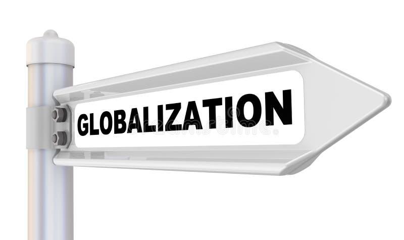 globalization Marca da maneira ilustração royalty free